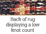 Low Knot Count on an oriental rug